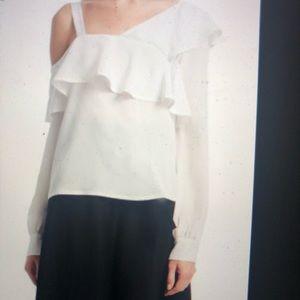 ALC Eliza one shoulder silk top